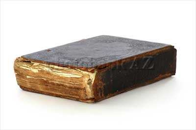 antique book on a white background