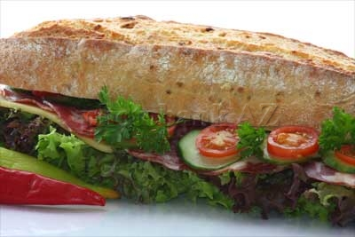 sandwich with salad