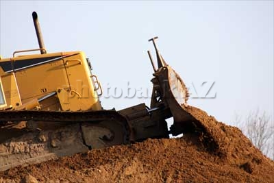 bulldozer in action